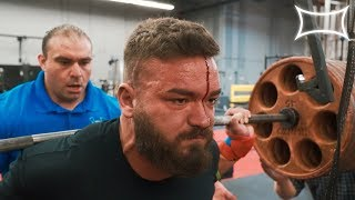 BLEEDING OUT THE FACE WHILE SQUATTING HEAVY 1 REP MAX Super Training Gym