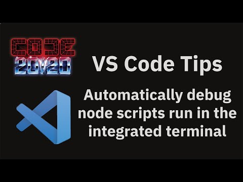 Automatically debug node scripts run in the integrated terminal
