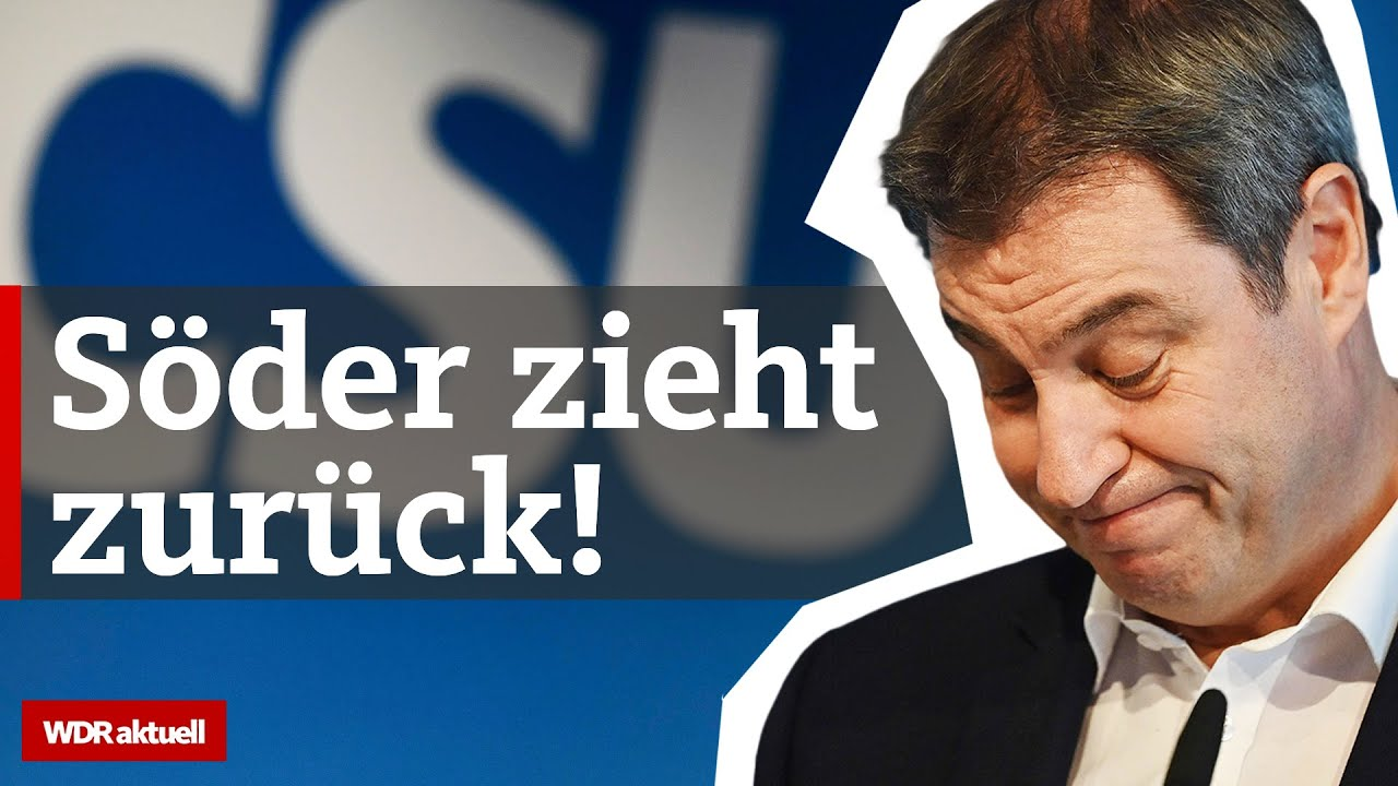 Söder unterstützt Laschet als Kanzlerkandidat der Union | WDR aktuell