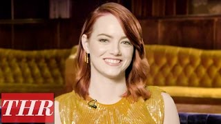 Emma Stone Plays 'Fishing for Answers': Ryan Gosling, Her First Job, & Cheese Pizza? | THR