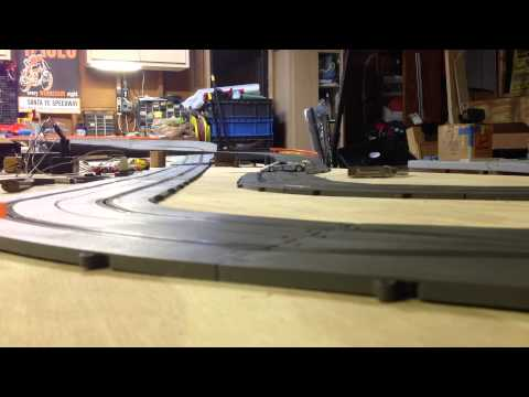 Getting Some Fast Laps on the 1967 Revell slot car track