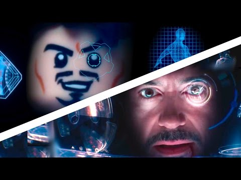 Iron Man 3 in Lego SIDE BY SIDE COMPARISON