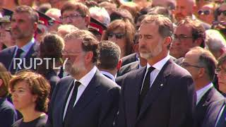 Spain  Rajoy and King Felipe join minute of silence for Barcelona van attack victims