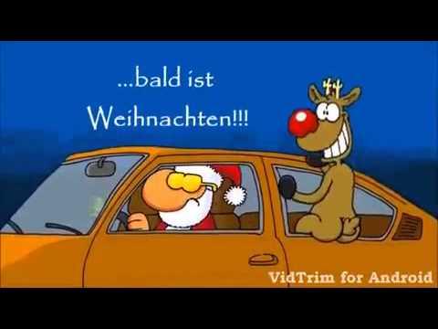 Weihnachtsmann Fahrt Im Auto Mit Rentier Youtube