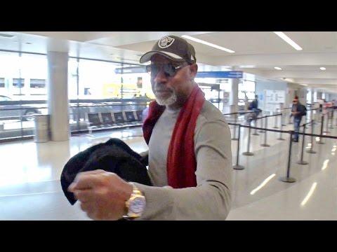 Actor Dennis Haysbert  Raiders Pride, FistBumps Photographer At LAX