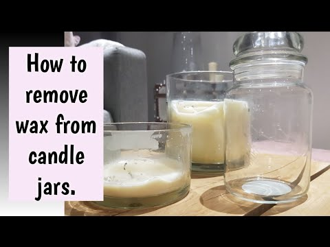How to remove wax from a candle jar.