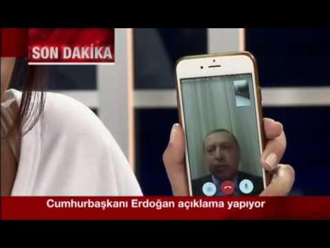Cumhurbaşkanı Recep Tayyip Erdoğan Canlı Yayında Askeri Darbe Açıklaması