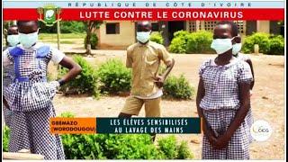 Lutte contre le coronavirus : Gbemazo (Worodougou), les élèves sensibilisés au lavage des mains
