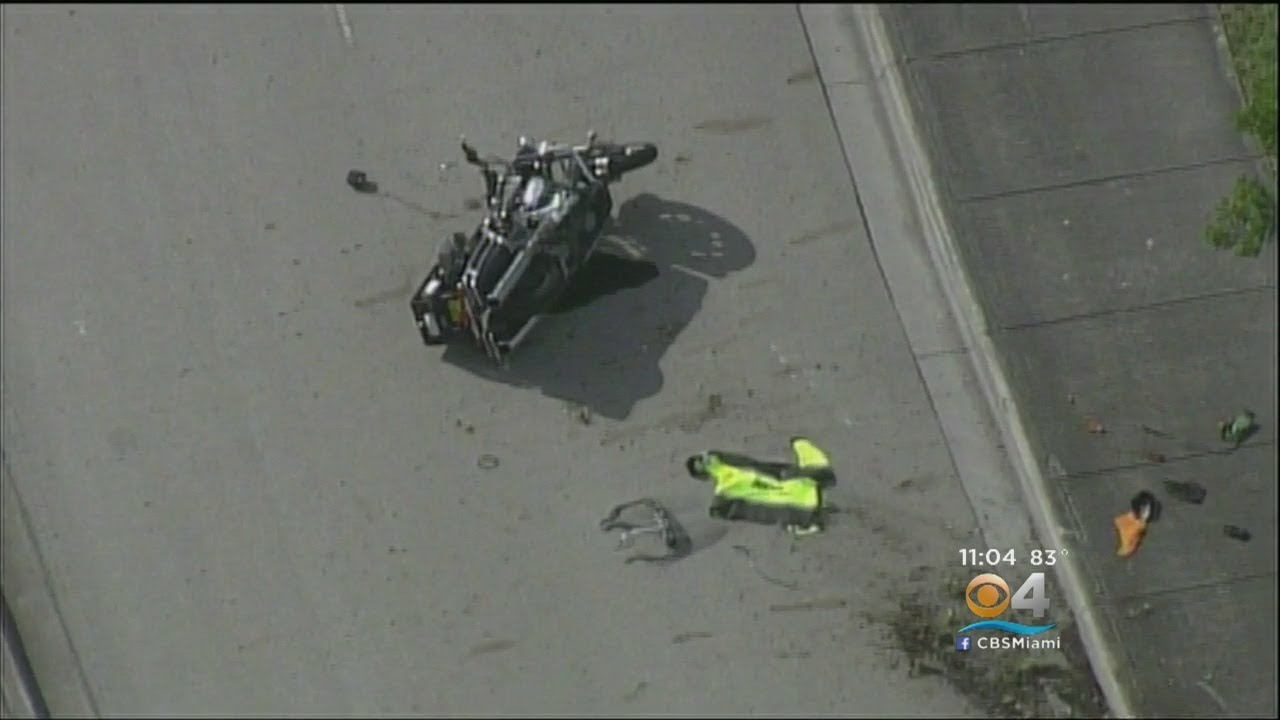Doral Motorcycle Officer Airlifted To Jackson Memorial Hospital After Crash