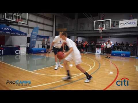 Kristaps Porzingis Dominates his Basketball ProCamp