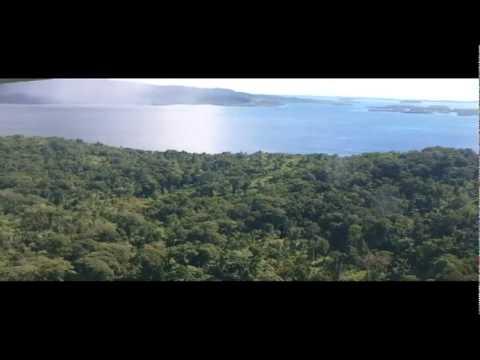 Flying from Munda to Honiara