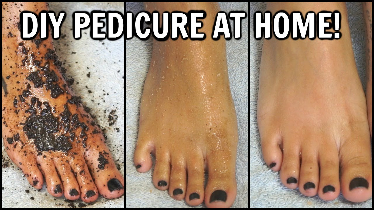 "How To Do A Pedicure At Home ""�2 Diy Foot Scrubs For Smooth Soft Feet At Home  To Exfoliate & Whiten"