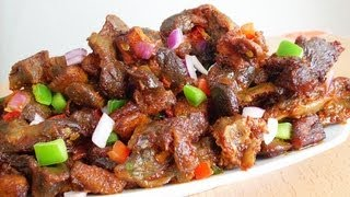 Dodo gizzard -Gizdodo Recipe (Nigerian Stewed Gizzard & Plantain)