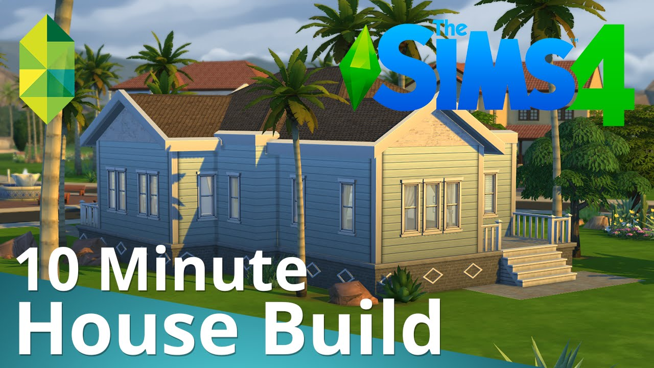 The sims 4 10 minute house build youtube for Design your home games