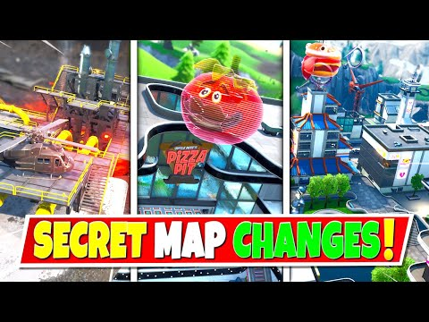 NEW* ALL SEASON 9 SECRET MAP CHANGES IN FORTNITE! NEW LOCATIONS