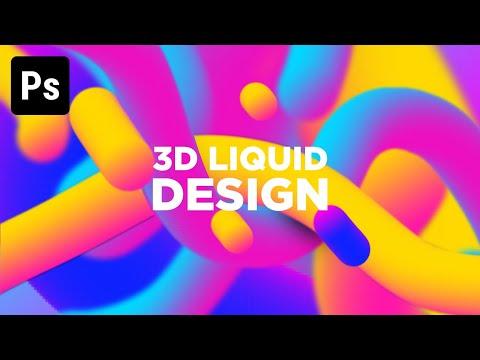 Colorful Design 3D Liquid   Photoshop Tutorial
