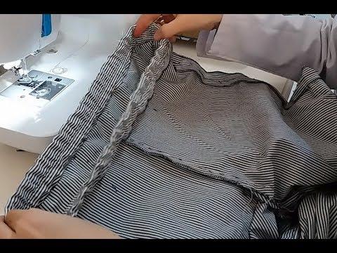 d7c5ff07a5e5b Lastikli Pantolon Nasıl Dikilir - Lastik Belli Pantolon -How to Build a  Rubber Trouser | Dikiş Hocam