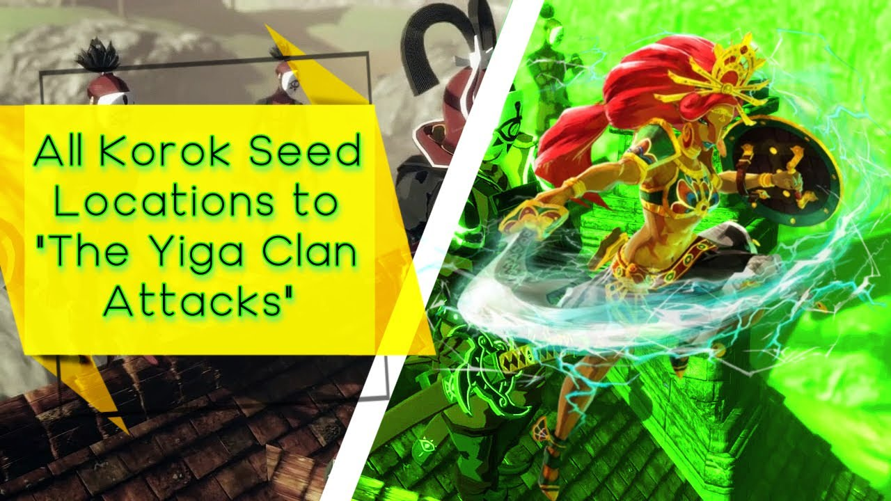 Hyrule Warriors Age Of Calamity The Yiga Clan Attacks All Korok Seed Locations Youtube
