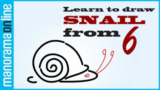 Draw a snail with 6 | Animated Videos for Children | Manorama Online