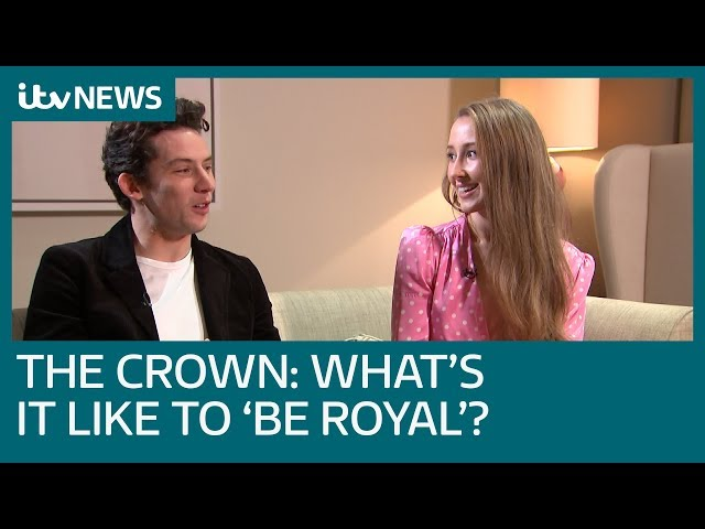 Full Interview\: Josh O'Connor and Erin Doherty on being in series three of The Crown   ITV News
