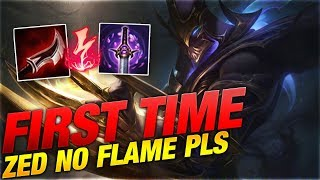 FIRST TIME ZED NO FLAME PLS!!! [League of Legends] [Deutsch / German]
