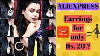 EARRINGS for Rs. 20? Rs. 30? | ALIEXPRESS JEWELRY HAUL | AFFORDABLE JEWELRY HAUL | ALIEXPRESS HAUL