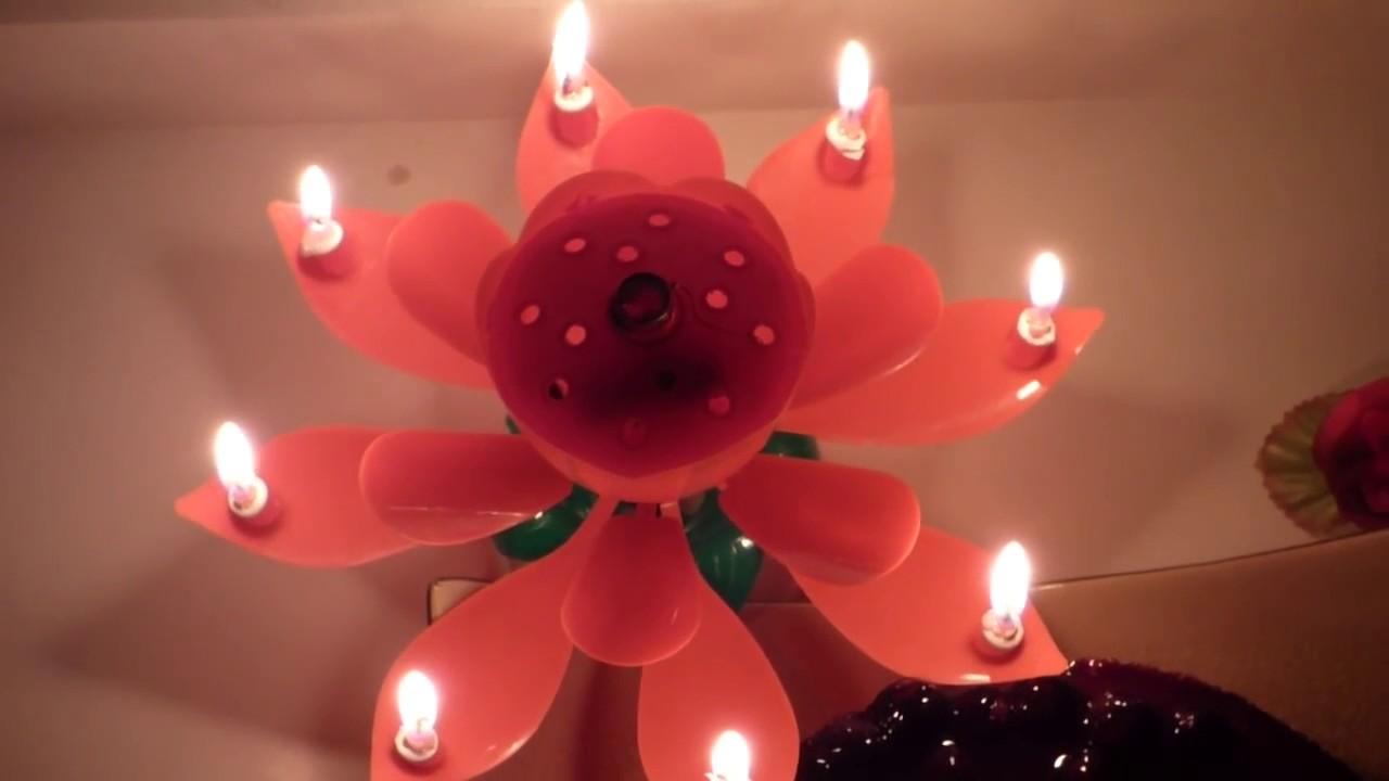 szülinapi gyertya Boldog szülinapot Szétnyíló ,zenélő virág alakú szülinapi gyertya  szülinapi gyertya