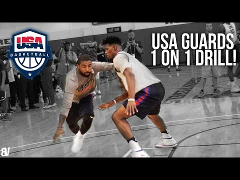 USA Basketball 1 on 1 Drill | Team USA Guards Go Head To Head