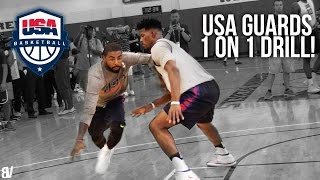 USA Basketball 1 on 1! Kyrie, Jimmy, DLo & More Go AT IT! Team USA Guards Go Head To Head