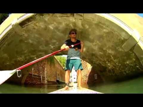 SUP in Venice Stand up Paddle Venezia Venedig SJCAM