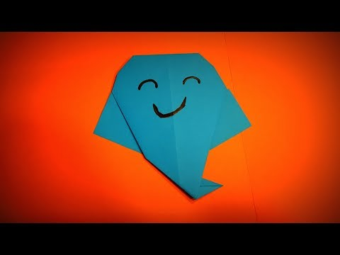 Origami Ghost | How to Make a Paper Ghost Halloween Decor Ideas DIY | Easy Origami ART Paper Crafts