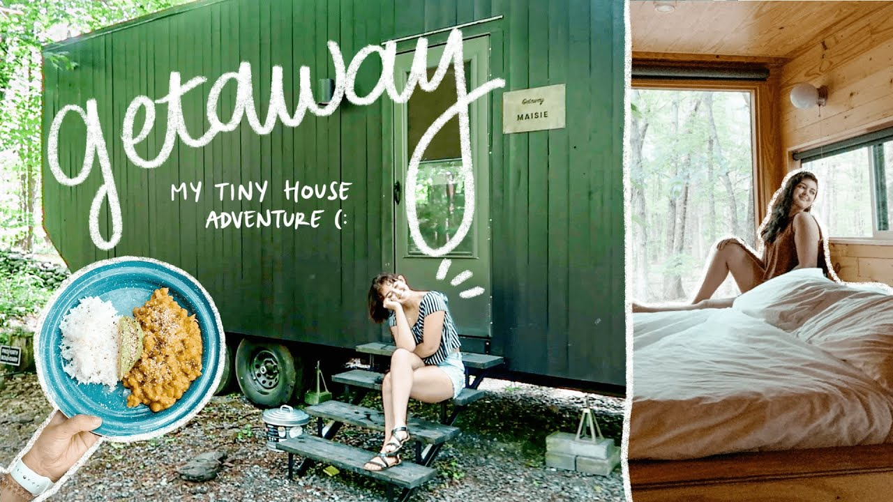 we went camping in a tiny home.. ! // GETAWAY HOUSE NY *cabin tour & review*
