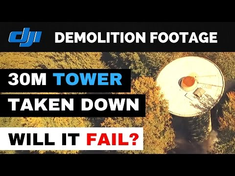 Radio Tower DEMOLITION recorded with DJI Phantom 3 Drone