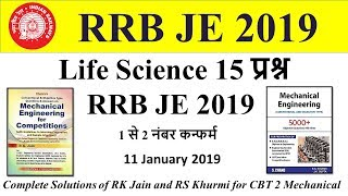 Life Science Important Questions for RRB JE by Mech Zone 11 January