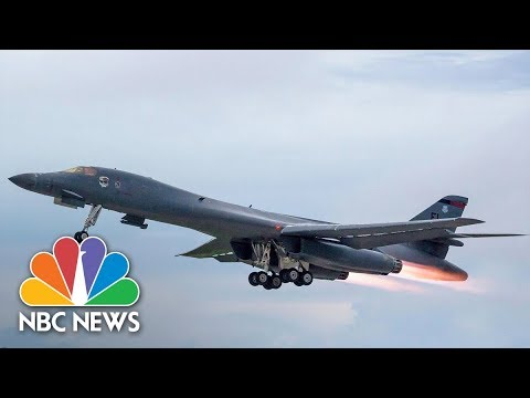 U.S. And South Korean Bombers Hold Drills Over Korean Peninsula | NBC News