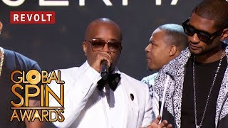 Jermaine Dupri accepts the Breaking Barriers Award | Global Spin Awards 2018