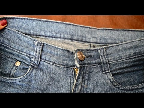 How To Downsize Jeans Without SewingMachine No Cutting Alter Classy How To Take In Jeans Without A Sewing Machine