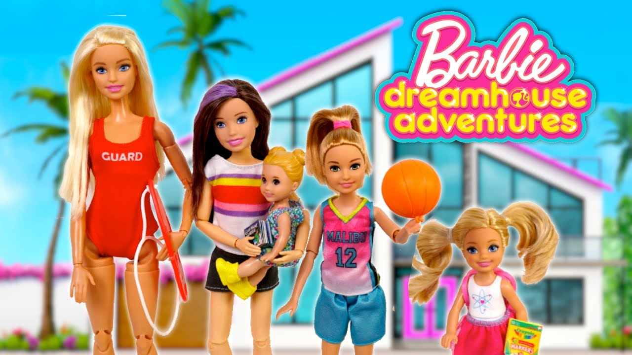 Barbie Dreamhouse Adventures Family Evening Routine - Summer Edition