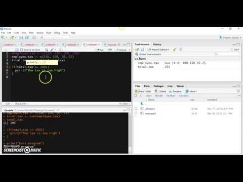 34. R Programming - If Statement