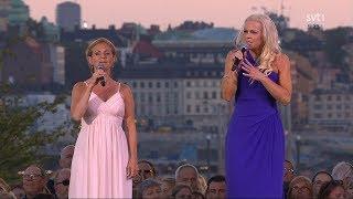 """Malena Ernman & Helen Sjöholm - Sankta Klara Klocka (Live """"Allsång På Skansen"""" 2017)"""