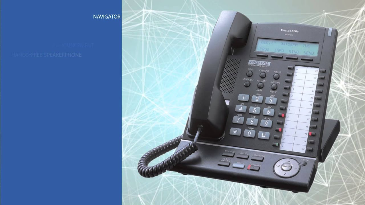 panasonic kx t7633 business phone youtube rh youtube com Panasonic Owner's Manual Panasonic Technical Support