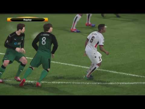 Pro Evolution Soccer 2017 PS4 Europa League OGC Nice v. Krasnodar 1st Half