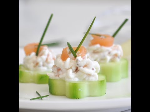 Cucumber Bites With Smoked Salmon Mousse By Cooking With Manuela