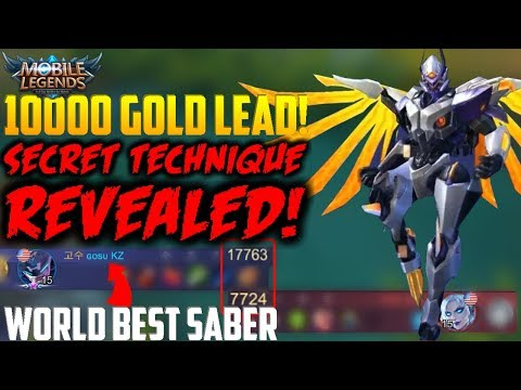 "WORLD BEST SABER ""POWER FARM"" TECHNIQUE! (MUST WATCH!!) MOBILE LEGENDS SABER GAMEPLAY"