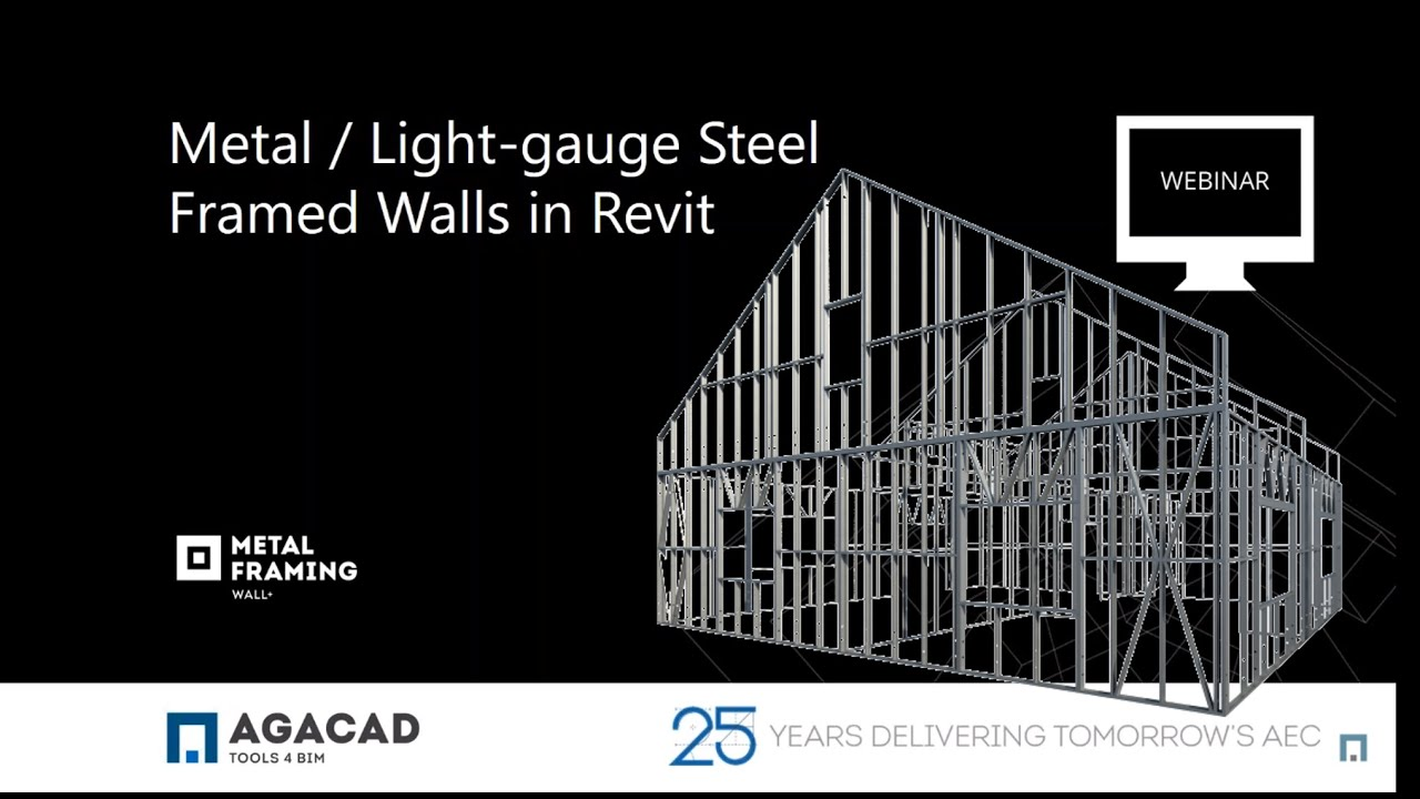 Framing Metal Light Gauge Steel Walls In Revit Youtube