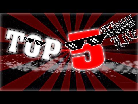 TOP 5 MEJORES CANCIONES Thug Life   Parte #1