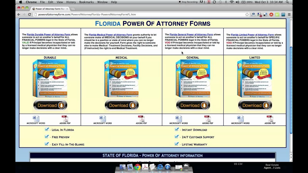 Power of attorney form florida youtube falaconquin