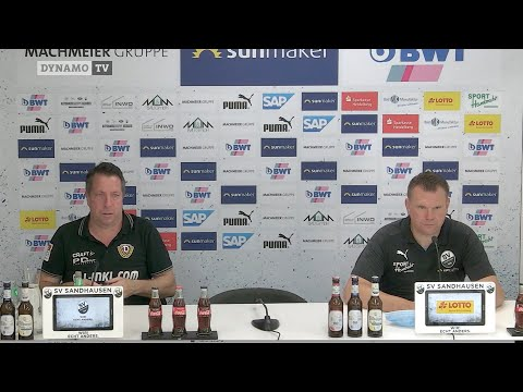 33. Spieltag | SVS - SGD | Pressekonferenz nach dem Spiel