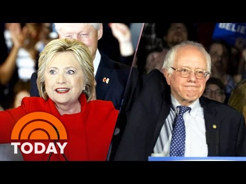 Bernie Sanders, Hillary Clinton Campaign Into The Night In New Hampshire | TODAY