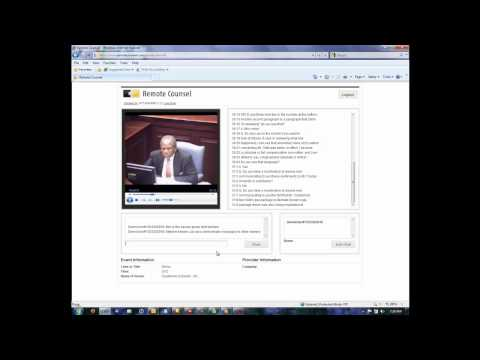 Internet Deposition Demonstration - Live Access to Realtime Text and Video